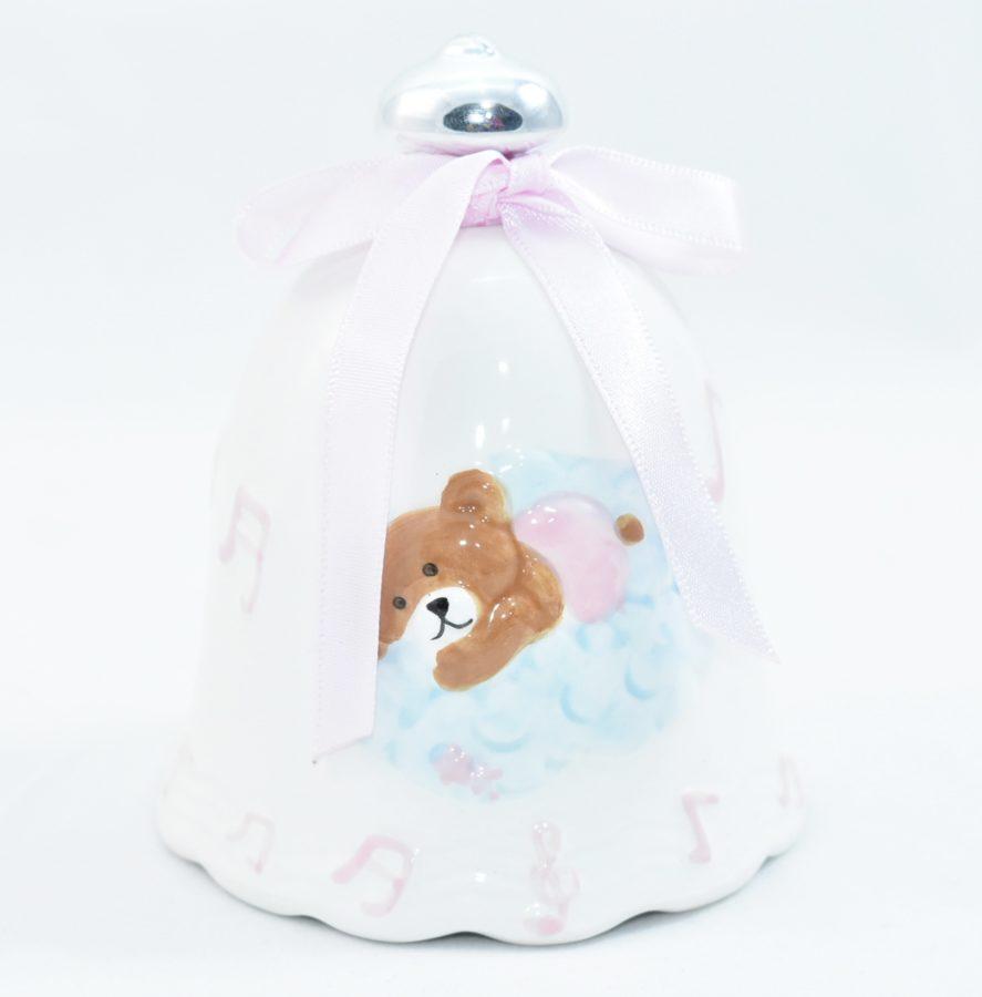 Campanella in ceramica fantasia bimba carillon rosa jewelab - Carillon portagioie bambina ...
