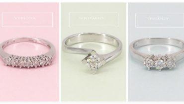 Anelli con diamanti online: solitario, trilogy e veretta.