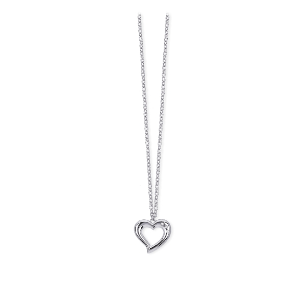 in vendita 5eef6 20d68 Collana acciaio 2 Jewels cuore stilizzato pietre bianche